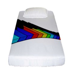 Rainbow Piano  Fitted Sheet (single Size)