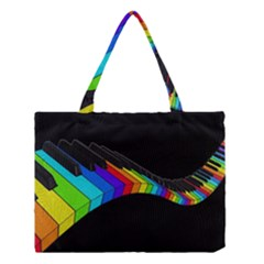 Rainbow Piano  Medium Tote Bag by Valentinaart