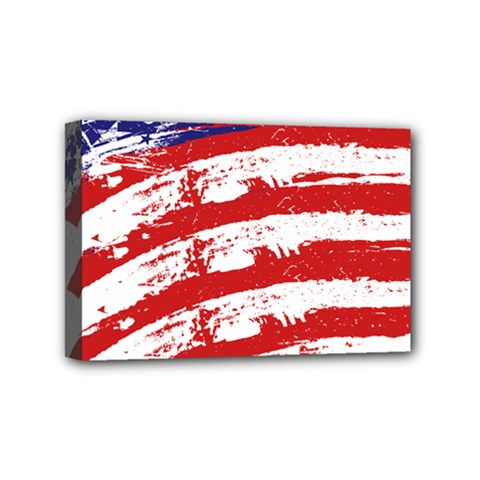 American Flag Mini Canvas 6  X 4  by Valentinaart