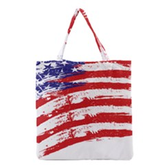 American Flag Grocery Tote Bag by Valentinaart