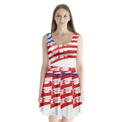 American Flag Split Back Mini Dress