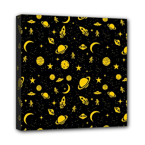 Space Pattern Mini Canvas 8  X 8  by ValentinaDesign