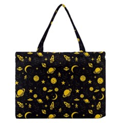 Space Pattern Medium Zipper Tote Bag by ValentinaDesign