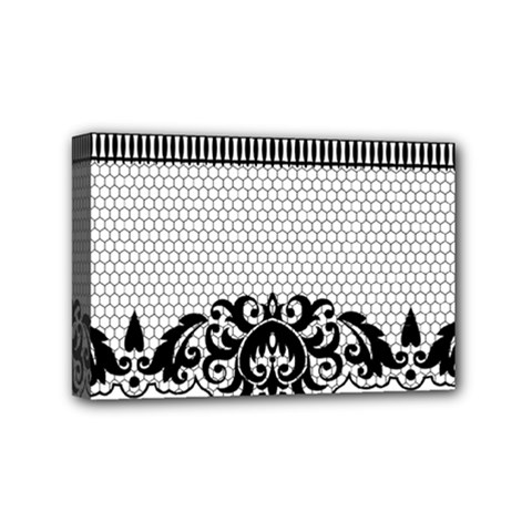 Transparent Lace Decoration Mini Canvas 6  X 4  by Nexatart