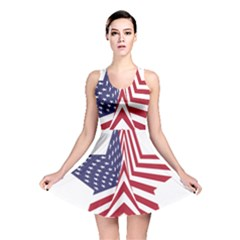A Star With An American Flag Pattern Reversible Skater Dress