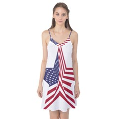 A Star With An American Flag Pattern Camis Nightgown by Nexatart