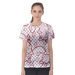 Transparent Decorative Lace With Roses Women s Sport Mesh Tee by Nexatart