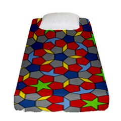 Penrose Tiling Fitted Sheet (single Size) by Nexatart
