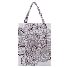 Henna Line Art Clipart Classic Tote Bag by Nexatart