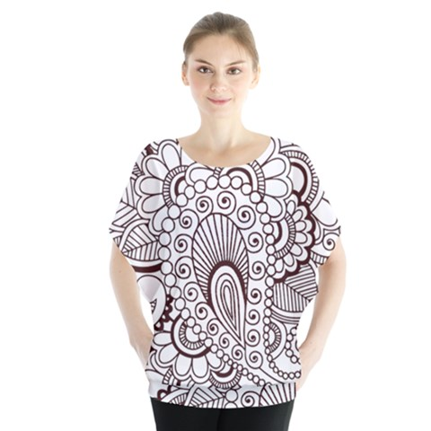 Henna Line Art Clipart Blouse by Nexatart