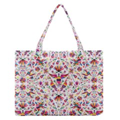 Otomi Vector Patterns On Behance Medium Zipper Tote Bag by Nexatart