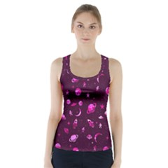 Space Pattern Racer Back Sports Top by ValentinaDesign