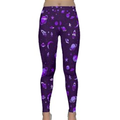Space Pattern Classic Yoga Leggings by ValentinaDesign