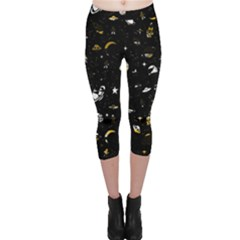 Space Pattern Capri Leggings  by ValentinaDesign