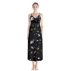 Space Pattern Chiffon Maxi Dress by ValentinaDesign