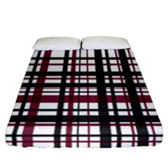 Plaid Pattern Fitted Sheet (queen Size) by ValentinaDesign