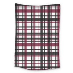 Plaid Pattern Large Tapestry by ValentinaDesign