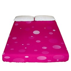 Decorative Dots Pattern Fitted Sheet (california King Size) by ValentinaDesign
