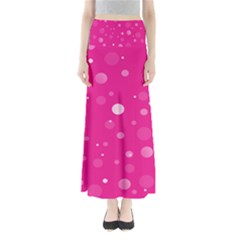 Decorative Dots Pattern Maxi Skirts by ValentinaDesign