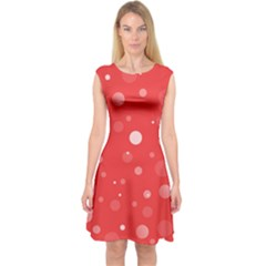 Decorative Dots Pattern Capsleeve Midi Dress by ValentinaDesign