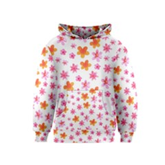 Watercolor Summer Flowers Pattern Kids  Pullover Hoodie by TastefulDesigns