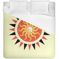 Yin Yang Sunshine Duvet Cover (king Size) by linceazul