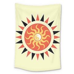 Yin Yang Sunshine Large Tapestry by linceazul