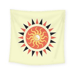 Yin Yang Sunshine Square Tapestry (small) by linceazul