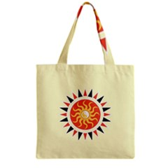 Yin Yang Sunshine Grocery Tote Bag by linceazul