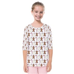 Christmas Trio Pattern Kids  Quarter Sleeve Raglan Tee