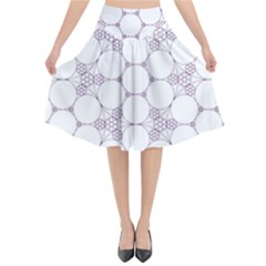 Density Multi Dimensional Gravity Analogy Fractal Circles Flared Midi Skirt