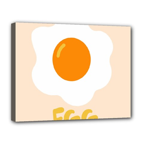 Egg Eating Chicken Omelette Food Canvas 14  X 11  by Nexatart