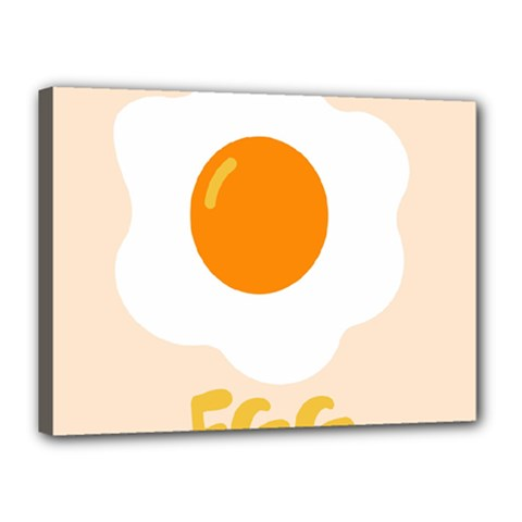 Egg Eating Chicken Omelette Food Canvas 16  X 12  by Nexatart