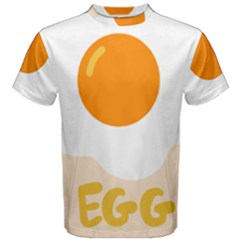 Egg Eating Chicken Omelette Food Men s Cotton Tee
