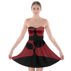 Plant Last Plant Red Nature Last Strapless Bra Top Dress