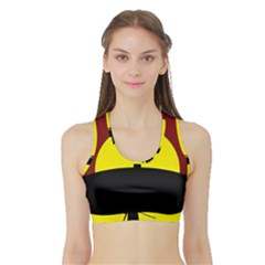 Samurai Warrior Japanese Sword Sports Bra With Border by Nexatart