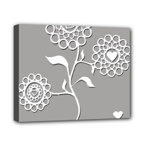 Flower Heart Plant Symbol Love Canvas 10  X 8  by Nexatart