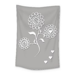 Flower Heart Plant Symbol Love Small Tapestry by Nexatart
