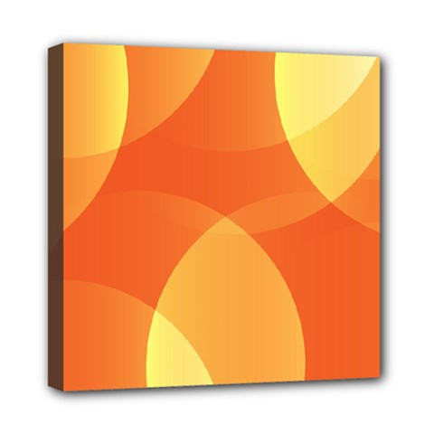 Abstract Orange Yellow Red Color Mini Canvas 8  X 8