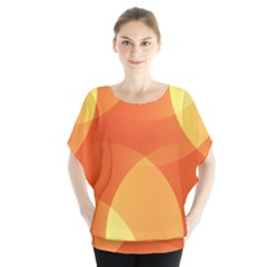 Abstract Orange Yellow Red Color Blouse