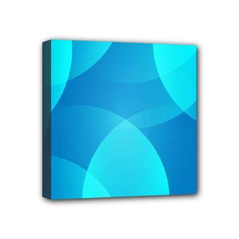 Abstract Blue Wallpaper Wave Mini Canvas 4  X 4  by Nexatart
