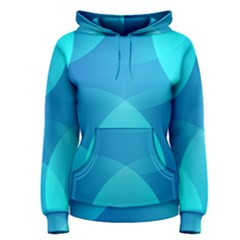 Abstract Blue Wallpaper Wave Women s Pullover Hoodie