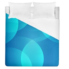 Abstract Blue Wallpaper Wave Duvet Cover (queen Size) by Nexatart