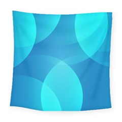 Abstract Blue Wallpaper Wave Square Tapestry (large) by Nexatart