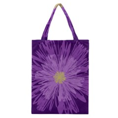 Purple Flower Floral Purple Flowers Classic Tote Bag by Nexatart