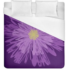 Purple Flower Floral Purple Flowers Duvet Cover (king Size) by Nexatart