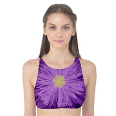 Purple Flower Floral Purple Flowers Tank Bikini Top