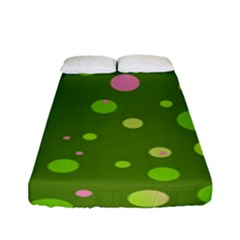 Decorative Dots Pattern Fitted Sheet (full/ Double Size) by ValentinaDesign