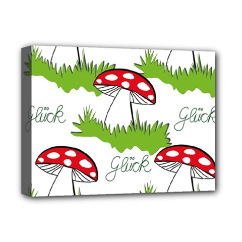 Mushroom Luck Fly Agaric Lucky Guy Deluxe Canvas 16  X 12