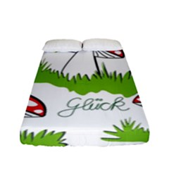 Mushroom Luck Fly Agaric Lucky Guy Fitted Sheet (full/ Double Size) by Nexatart
